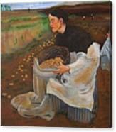 Potatoe Pickers Canvas Print