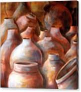 Pots In Morocco Canvas Print