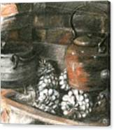 Pots Of A Fireplace Canvas Print