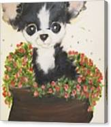 Potted Pup Canvas Print