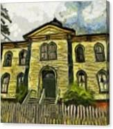 Potter Schoolhouse Canvas Print
