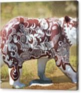 Pottery Bear Canvas Print