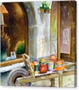 Pottery Cart Canvas Print