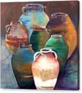Pottery Jars Canvas Print
