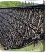 Pouce Coupe Train Wooden Trestle Canvas Print