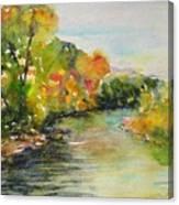 Poudre Riverbend Canvas Print
