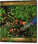 Poultrified Garden Of Eden Canvas Print