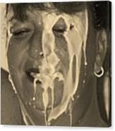 Poured Milk Canvas Print