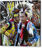 Pow Wow Back In Time 1 Canvas Print