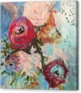 Powder Blue Roses Canvas Print