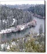 Powdered Spokane River Canvas Print