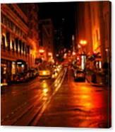 Powell Street Rain Canvas Print