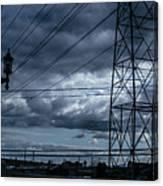 Los Angeles Power Grid At Dusk Canvas Print