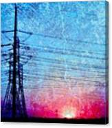 Power In Blue Canvas Print
