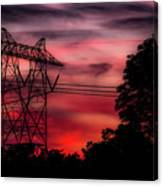Power In Red Canvas Print