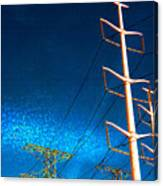 Power Line Light Clouds 2 Canvas Print