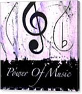 Power Of Music Purple Canvas Print