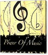 Power Of Music Yellow Canvas Print