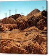 Power Transport From Hoover Dam Canvas Print