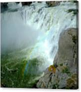 Powerful Large Waterfall Shoshone Falls Amazing Beauty Water Fal Canvas Print