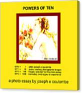 Powers Of Ten In Yellow Canvas Print