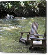 pr 165 - Chairs In The River Canvas Print