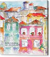 Praca Da Ribeira Porto Canvas Print