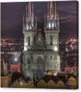 Prague At Night Canvas Print