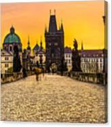 Prague - Charles Bridge - Czech Republic Canvas Print
