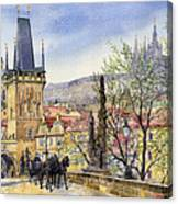 Prague Charles Bridge Spring Canvas Print