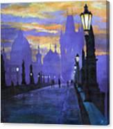 Prague Charles Bridge Sunrise Canvas Print