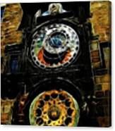 Prague Clock Canvas Print