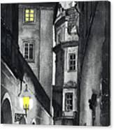 Prague Love Story Canvas Print