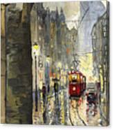 Prague Mostecka Street Canvas Print