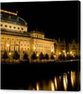 Prague National Theatre Canvas Print