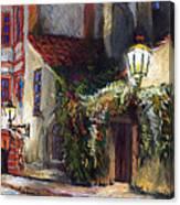 Prague Novy Svet Kapucinska Str Canvas Print