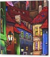 Prague Old Street 01 Canvas Print