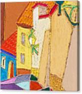 Prague Old Street Ceminska Novy Svet Canvas Print