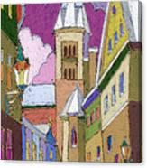 Prague Old Street Jilska Winter Canvas Print