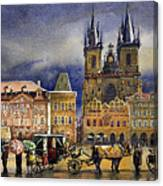 Prague Old Town Squere After Rain Canvas Print