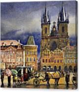 Prague Old Town Squere After rain Canvas Print