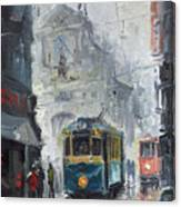 Prague Old Tram 04 Canvas Print