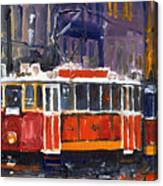 Prague Old Tram 09 Canvas Print