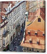 Prague Red Rooftops In The Old Town Canvas Print