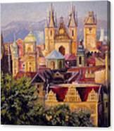 Prague. Roofs. Canvas Print