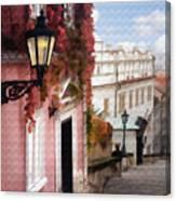 Prague Stairs Canvas Print