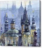 Prague Towers Canvas Print