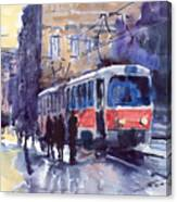 Prague Tram 02 Canvas Print