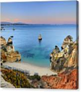 Praia Do Camilo At Sunset  Canvas Print