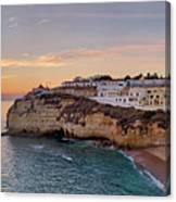 Praia Do Carvoeiro Sunset Canvas Print